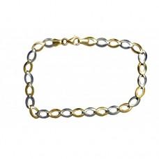 Zlatý náramek dvojí zlato AU0027