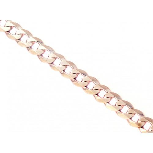 Zlatý náramek pancr v bílém zlatě - dámský AU0042