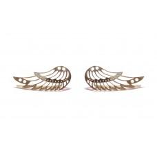 Zlaté náušnice andělská křídla celozlaté AU0898 - pecky podél ucha