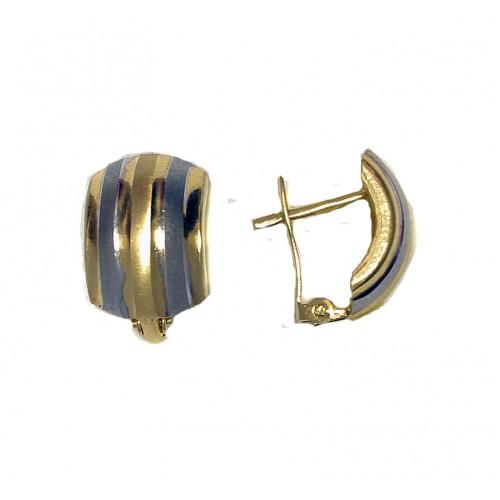 Zlaté náušnice celozlaté AU0339