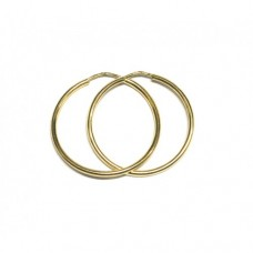 Zlaté náušnice kruhy AU0634 - menší