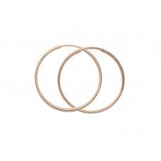 Zlaté náušnice kruhy AU0912 - střední 27 mm