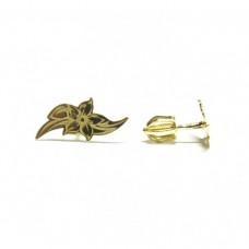 Zlaté náušnice kytička AU0097 - pecky na šroubek