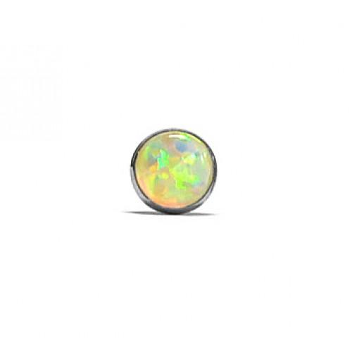 Zlaté náušnice pecky s opálem AU0853 - 1 kus