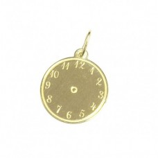 Zlatý dětský přívěsek hodiny AU0746 - žluté zlato