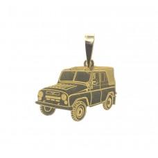 Zlatý přívěsek auto jeap gazík AU0291 - žluté zlato