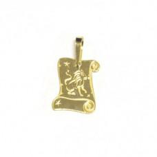 Zlatý přívěsek destička znamení lev AU0707