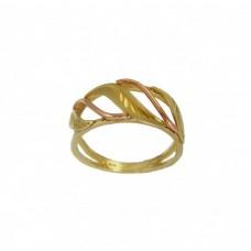 Zlatý prsten montovaný AU0182 - kombinované zlato