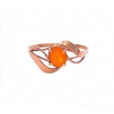 Zlatý prsten s ohnivým opálem AU0166
