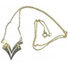 Zlatý dámský řetízek špička AU0230 - žluté zlato