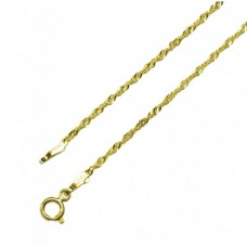 Zlatý jemný řetízek lambáda ve žlutém zlatě AU0460