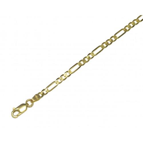 Zlatý masivní řetízek - řetěz figaro 3+1 AU0239 - plný (6,68 gr, 585)