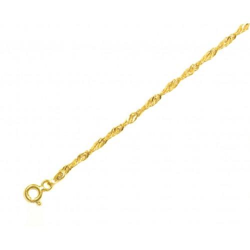 Zlatý řetízek lambáda ve žlutém zlatě AU0462 - masivnější