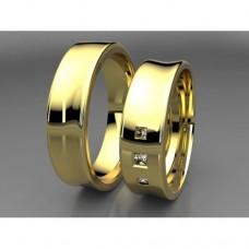 Zlaté snubní prsteny AUSP0002
