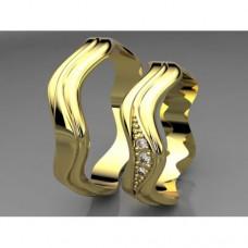 Zlaté snubní prsteny AUSP0004