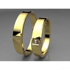 Zlaté snubní prsteny AUSP0006
