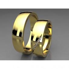 Zlaté snubní prsteny AUSP0014