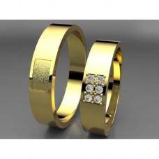 Zlaté snubní prsteny AUSP0020