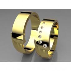Zlaté snubní prsteny AUSP0024