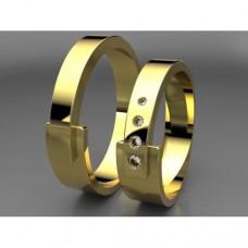 Zlaté snubní prsteny AUSP0028