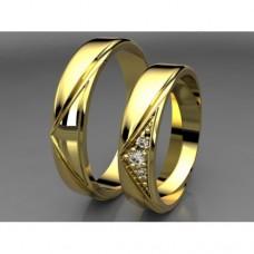 Zlaté snubní prsteny AUSP0031