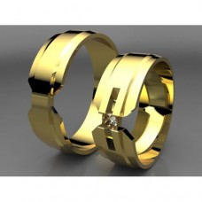 Zlaté snubní prsteny AUSP0037
