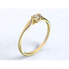 Zlatý zásnubní prsten s AUZSPD0019