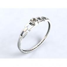 Zlatý zásnubní prsten s diamantem AUZSPD0010 - bílé zlato
