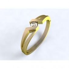 Zlatý zásnubní prsten s diamantem AUZSPD0011