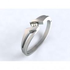 Zlatý zásnubní prsten s diamantem AUZSPD0012 - bílé zlato