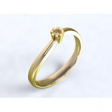 Zlatý zásnubní prsten s diamantem AUZSPD0013