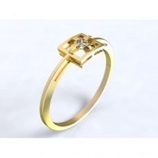 Zlatý zásnubní prsten s diamantem AUZSPD0017