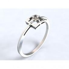Zlatý zásnubní prsten s diamantem AUZSPD0018