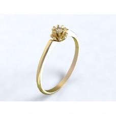 Zlatý zásnubní prsten s diamantem AUZSPD0021
