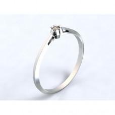 Zlatý zásnubní prsten s diamantem AUZSPD0024 - bílé zlato