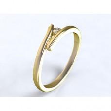 Zlatý zásnubní prsten s diamantem AUZSPD0025