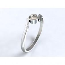 Zlatý zásnubní prsten s diamantem AUZSPD0028 - bílé zlato