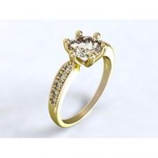 Zlatý zásnubní prsten s diamantem AUZSPD0029