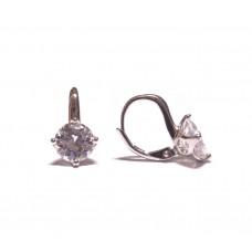 Stříbrné náušnice čtyřlístky osázené zirkony AG0117 - na klapku