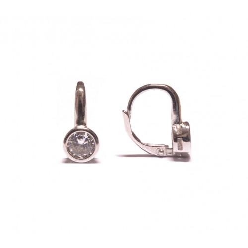 Stříbrné dámské náušnice s čirým zirkonem AG0128