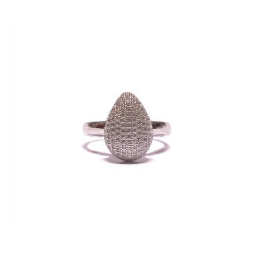 Stříbrný dámský prsten kapka osázený zirkonky AG0136