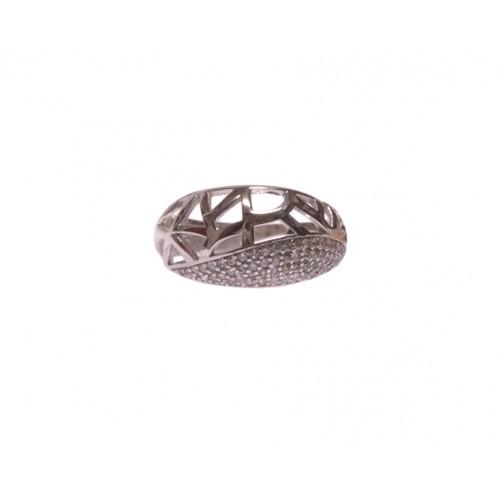 Stříbrný dámský prsten osázený kamínky AG0152