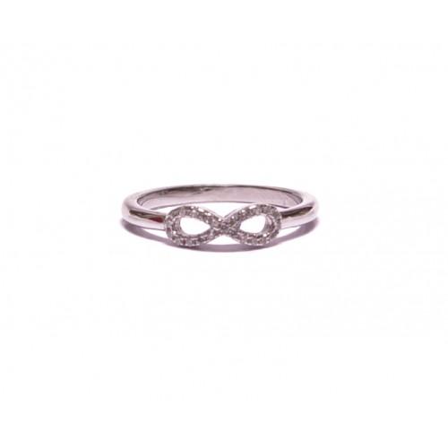 Stříbrný dámský jemný prsten nekonečno AG0185 - se zirkony