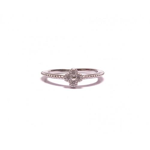 Stříbrný prsten kytička se čtyřmi zirkony AG0164