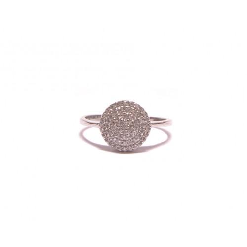 Stříbrný prsten osázený zirkonky AG0197