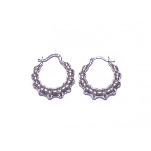 Stříbrné náušnice kruhy AG0036 - střední 23 mm