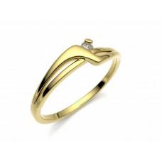 Zlatý zásnubní prsten s briliantem (diamantem)  PDR0000250