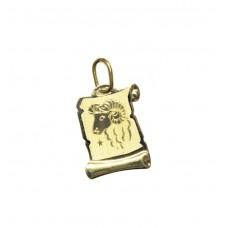 Zlatý přívěsek destička znamení beran AU0814