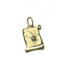 Zlatý přívěsek destička znamení kozoroh AU0816